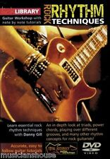Lick Library Ritmo De Rock técnicas de aprender a jugar potentes acordes tríadas Guitarra Dvd