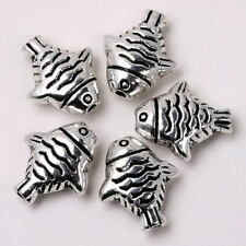 Lot 20p Tibetan Silver Sea Fish Spacer Beads Jewelry Finding Fit Bracelet Chain