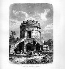 Stampa antica RAVENNA Tomba di Teodorico 1877 Old print
