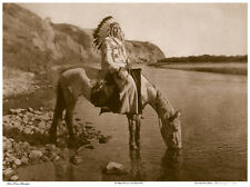 Bow River Blackfoot 22x30 Hand Numbered Ltd. Edition Curtis Indian Art Photo