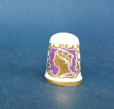 Caverswall Thimble - HM Queen Elizabeth II Grandmother of Prince William 1982