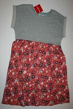 NEW Hanna Andersson Girls Gray Top Flower Print Skirt Dress 150 or 11 12 13 Year