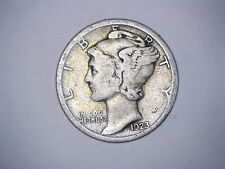 Old Original 1923 San Francisco Mint United States Silver Mercury Dime Coin