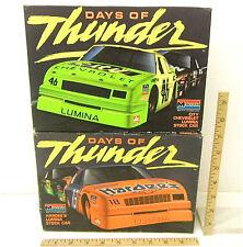 1990 Monogram City Chevrolet + Hardees Lumina Stock Cars 1:24 Scale Model Kits