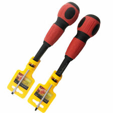 2pc Screwdriver Set Cross Slotted Magnetic Precision Chisel Nut Wing Electrician