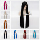 100CM Long Straight 17 Colors Heat Resistant Women Party Basic Cosplay Hair Wig