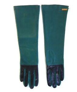 GALLIANO Designer  Women's Long Opera Leather Gloves Size S