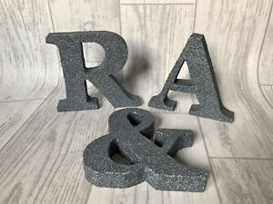 15cm Glitter Letters Freestanding, Wedding Decor, Bedroom Decor, Wedding Table
