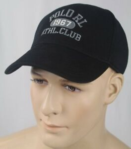Polo Ralph Lauren Black Baseball Ball Cap Hat Athletic Club NWT