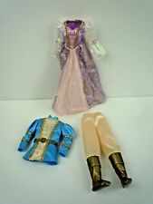BARBIE AS RAPUNZEL / 1997 PRINCESS RAPUNZEL DRESS & PRINCE STEFAN OUTFIT