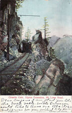 GRANITE GATE,ALPINE EXTENSION, MT. LOWE ROAD. OLD POSTCARD. GLITTER -POSTED 1907
