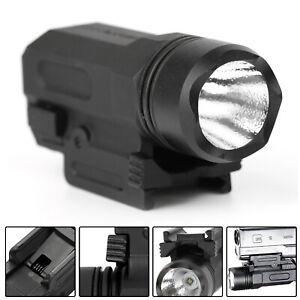 Tactical 150LM LED Pistol Gun Rifle Shotgun Flashlight Rail Mount Hunting Light