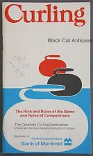 Original 1972 Canadian Curling Assoc Rink/Rules/Competition Of The Game Handbook