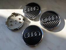 4 Centre de roue caches moyeux Carbone NOIR AUDI 4M0601170 61mm S4 A4 8W0601170