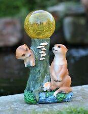 Meerkat Garden Ornament Solar Powered Decorative  Animal Light Up LED Patio
