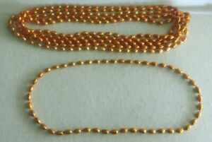 Football Tailgate Beads – 6 Orange Necklaces – NFL or College