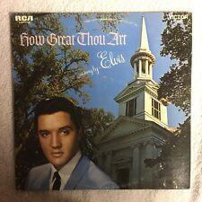 Elvis How Great Thou Art Record Vinyl Lp