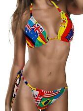 String Bikini Pailletten Beach Strand GoGo Made in USA Stringbikini Gr.34-38