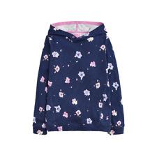 Joules Girls Marlston Navy Petal Floral Hooded Sweatshirt