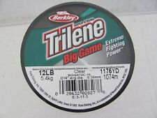 NEW- Berkley Trilene Big Game Monofilament Fishing Line Clear -900yds-12lbs