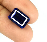 Blue Tanzanite Loose Gemstone VS Clarity 6-8 Ct Emerald Cut Natural Certified