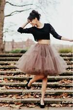 Tulle Coffee Black Short Party Skirts Womens Ladies Prom Dress Fancy Skirt