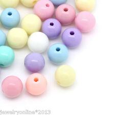 500 Mix Acryl Spacer Perlen Kugeln Beads Schmuckperlen Mehrfarbig 6mm