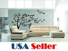Large Black Photo Picture Frame Family Tree Removable Wall Sticker Decor Decal