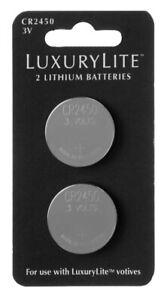 Ganz E1 LuxuryLite CR2450 3V Lithium Coin Batteries 2pc Set LLBA1018