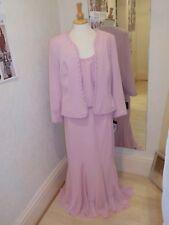Frank Usher Pink  three piece Skirt Suit FG51449 size 16