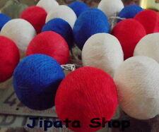 White-Blue-Red Yarn Ball Party-Wedding-Decoration X-mas 110V Light String