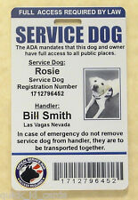 Custom ID Card / Badge for Service Dog Certified Working Dog Service Animal 6