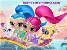 A4 SHIMMER & SHINE EDIBLE ICING BIRTHDAY CAKE TOPPER