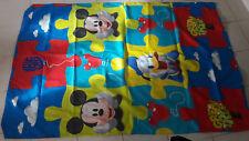 DISNEY Mickey Mouse e Donald Duck Kids Singolo Copri Piumone Stile Puzzle.