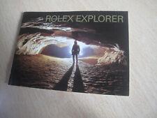 Genuine ROLEX EXPLORER Booklet (English).114270, 16570,   Year 2003