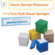 Dental Sponge Dispenser Size 2x2 Gauze Dispenser Free Pack 2x2 200gauze