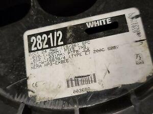 Alpha Wire 2821/2 24/1P MIL-W-16878/4 NEMA HP3 SPC Braid Shield Cable White/10ft