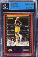 LeBron James 2019-20 Panini NBA Sticker & Card Collection Red Foil /199