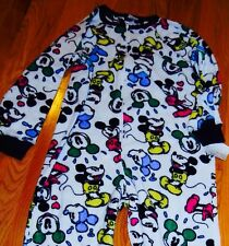 DISNEY'S COLORFUL CLASSIC MICKEY MOUSE FOOTED PAJAMAS FLEECE S or M NWT LAST ONE