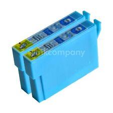 2 kompatible Tintenpatronen blau für Drucker Epson SX440W S22 SX425W