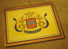 Ancienne boite tôle publicitaire cigarettes Batavia Régie Française