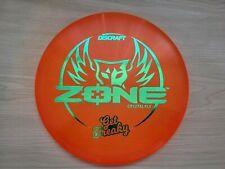 Discraft Zone Get Freaky Cyztal Z Flx Orange w/Green Colorshift Stamp 173-174g