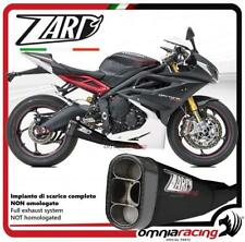 Zard full exhaust system in black racing racing Triumph Daytona 675 2013>2016