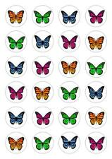 24 Monarch Butterfly Rice Paper Wedding Edible Cupcake Cake Toppers
