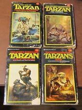 4--VINTAGE TARZAN--PAPERBACK BOOKS