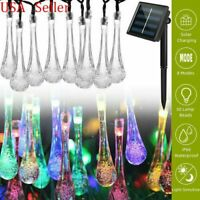 Solar Powered 30 LED String Light Garden Patio Yard Landscape Lamp Party Outdoor