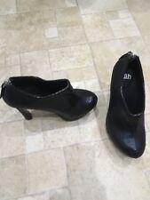 Faith SERPIENTE Diseño Negras Zapato Botas Talla 5/6 Totalmente Nuevo