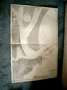 Vintage Admiralty Chart 2119 AUSTRALIA - NEWCASTLE HARBOUR (NSW) 1882 edn