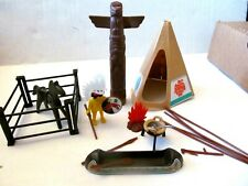 PLAYMOBIL 2960 Vintage INDIAN set  complete  Indian Teepee Horse Weapons