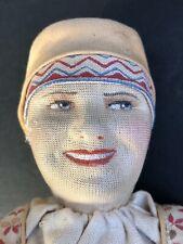 Antique Ussr 14� Stockinette Cloth Ryasan district Woman Doll